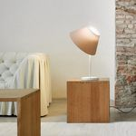 Table lamp / contemporary / polycarbonate / fabric CAPPUCCINA by Inga Sempé LUCEPLAN