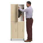 metal locker / for public buildings / for offices