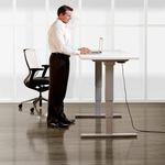 Contemporary desk / metal / laminate / height-adjustable TOGGLE® KI