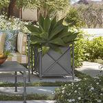 Aluminum planter / square / traditional / residential DEIA BROWN JORDAN
