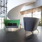 Contemporary commercial upholstered bench AURA by Mikko Laakkonen inno