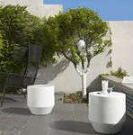 Contemporary garden side table SOIXANTE 3 by Thomas Rodriguez  Ligne Roset France