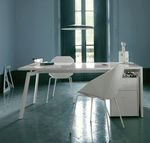 Contemporary lacquered office desk WORK & LOOK by Pagnon & Pelhatre  Ligne Roset France
