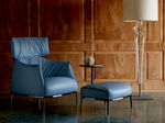 Contemporary leather armchair with footstool ARCHIBALD by Jean-Marie Massaud POLTRONA FRAU