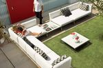 contemporary modular garden sofa CLOUD by Mark Gabbertas GLOSTER