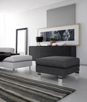 Contemporary ottoman LILLE by S.T.C. Calligaris Italian home design since 1923