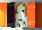 Laquered flush swing door ANDY WARHOL ep-porte