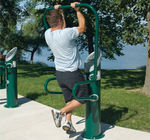 outdoor pull-up bar HEALTHBEAT� : #161313A-B LANDSCAPE STRUCTURES