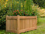 Wood planter for public spaces  Silverwood