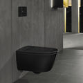 Wall-hung toilet / shower / ceramic / rimless