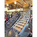 circular staircase / lateral stringer / wooden steps / metal frame - PRESTIGE