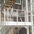 exterior staircase / half-turn / for commercial buildings - PARK