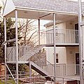 exterior staircase / half-turn / for commercial buildings - NEWMARKET