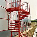 exterior staircase / spiral / with metal steps / frame - FULBOURN