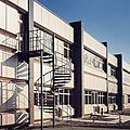 exterior staircase / spiral / with metal steps / frame - SKILTS