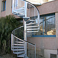 exterior staircase / spiral / frame / with metal steps - BARO