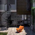exterior staircase / spiral / frame / with metal steps - EXTERIOR ZINK
