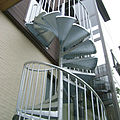 exterior staircase / spiral / frame / with metal steps - ELEGANCE : A6