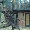 exterior staircase / spiral / frame / with metal steps - VT/20/1