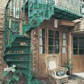 exterior staircase / spiral / frame / with metal steps - VT/21/1