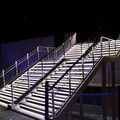 exterior staircase / straight / central stringer / steel frame - SYMPHONIE