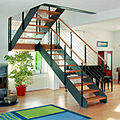 half-turn staircase / lateral stringer - LOFT