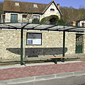 metal bus shelter / fiberglass - HERITAGE