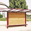 metal bus shelter / fiberglass - VISION SUR MESURE