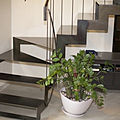 quarter-turn staircase / lateral stringer / with metal steps / frame - N