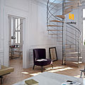spiral staircase / central stringer - ROSA - SPECIAL