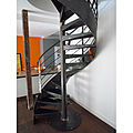 spiral staircase / with metal steps / frame - PRESTIGE