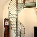 spiral staircase / stainless steel frame / glass steps - ORCHIDEA CURVE