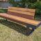 garden bench / contemporary / iron / wooden