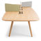 Contemporary work table / wooden / rectangular / for public buildings WING by Parisotto & Formenton True Design srl