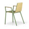 Contemporary visitor chair / with armrests / upholstered / fabric MARINA by Leonardo Rossano True Design srl