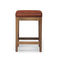 traditional stool / contemporary / walnut / white