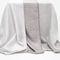 plain sheer curtain fabric / polyester / linen