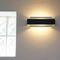 minimalist design wall light / aluminum / incandescent / rectangular