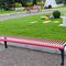 Public bench / contemporary / galvanized steel / with backrest CHERRY HUSSON INTERNATIONAL