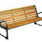 Public bench / traditional / wooden / cast iron SWANN HUSSON INTERNATIONAL