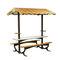 contemporary picnic table / HPL / galvanized steel / rectangular
