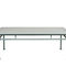 traditional coffee table / lacquered aluminum / rectangular / garden