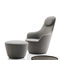 Contemporary armchair / fabric / swivel / high back HARBOR B&B Italia