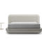 double bed / contemporary / upholstered / with headboard