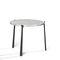 contemporary coffee table / granite / teak / rectangular