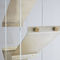 contemporary bookcase / for offices / brass / glass