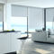 boxed roller blinds / fabric / commercial / chain-operated