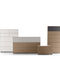 contemporary chest of drawers / wooden / white / brown