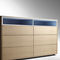 contemporary chest of drawers / lacquered wood / oak / walnut