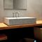 Countertop washbasin / rectangular / concrete / contemporary TRACCIA Urbi et Orbi